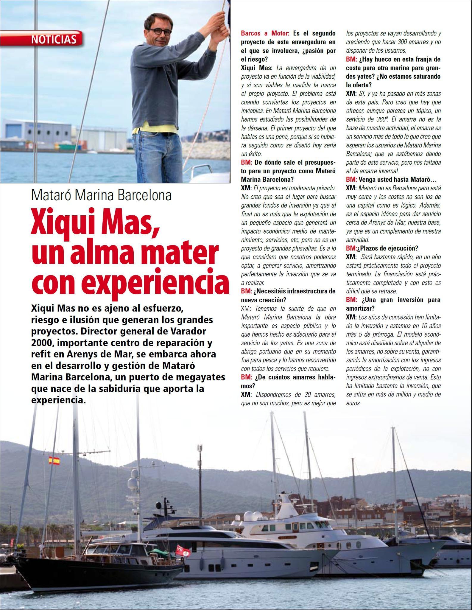 Barcos - Entrevista Xiqui Mas Feb.2015