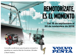 Campaign engining with compact motors D1, D2 and gas of Volvo Penta in Varador 2000
