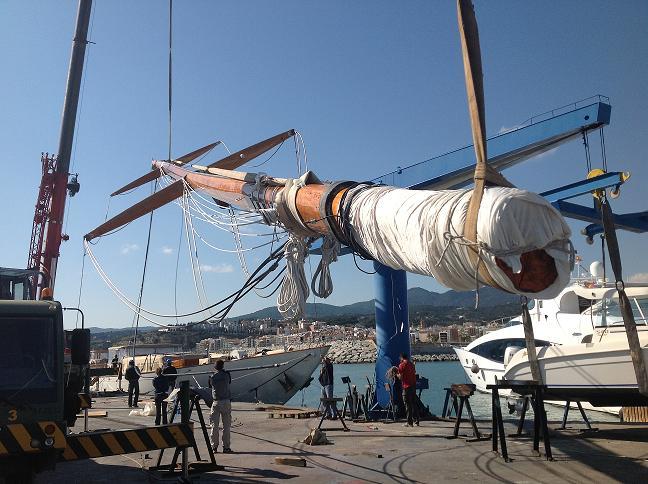 Refit del velero Tiziana en Varador 2000