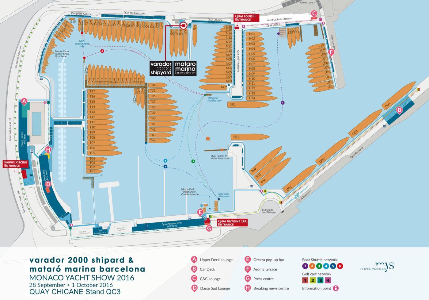 Varador 2000 promote base for superyachts Mataró Marina Barcelona in Monaco Yacht Show