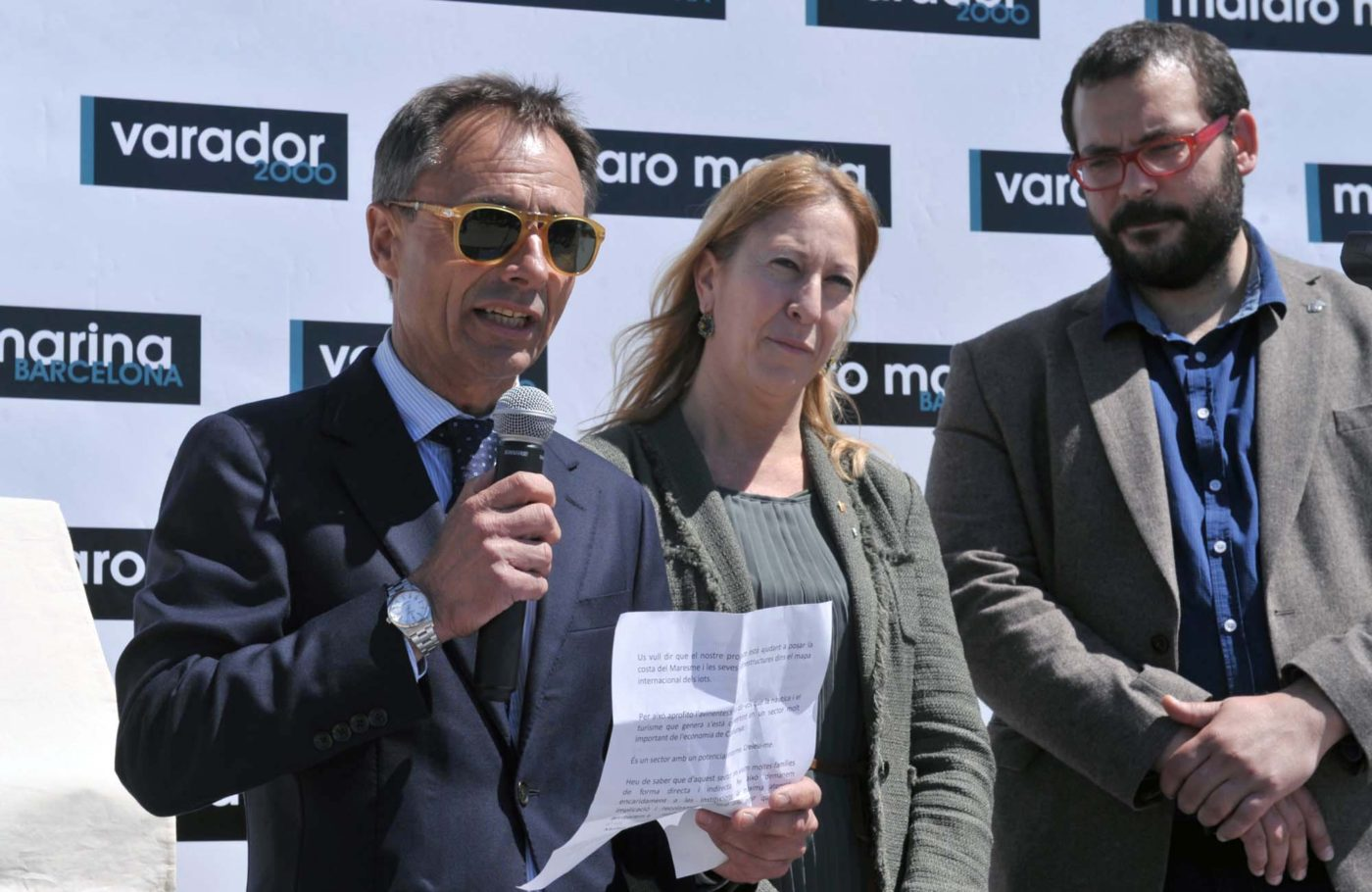 The Minister Neus Munté of the Government of Catalonia, opened the nautical base for superyachts Mataro Marina Barcelona